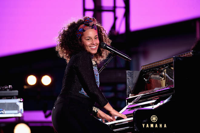 Alicia Keys performs in Times Square.