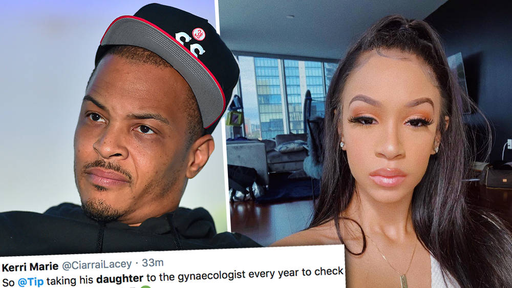 """T.I. slammed after admitting he takes his daughter, 18, to """"check her hymen"""""""