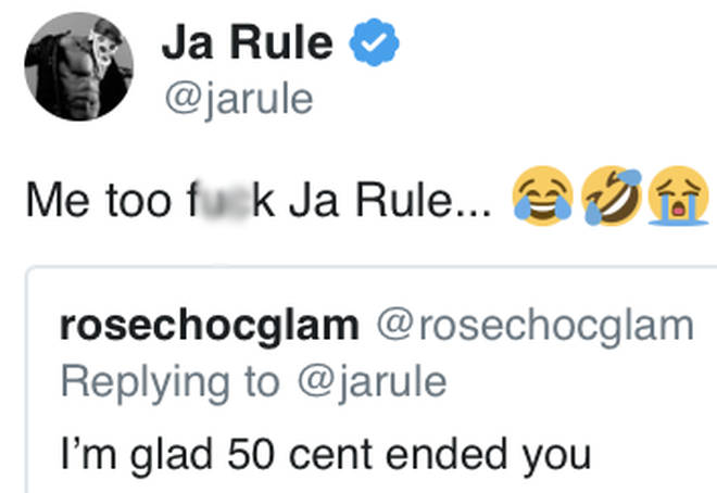 Ja Rule responds to fan who says 50 Cent ended him
