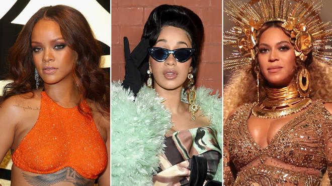 Rihanna, Cardi B and Beyoncé.