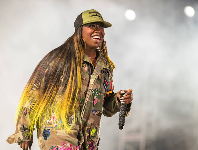 Missy Elliott performs onstage during day 1 of FYF Fest 2017.