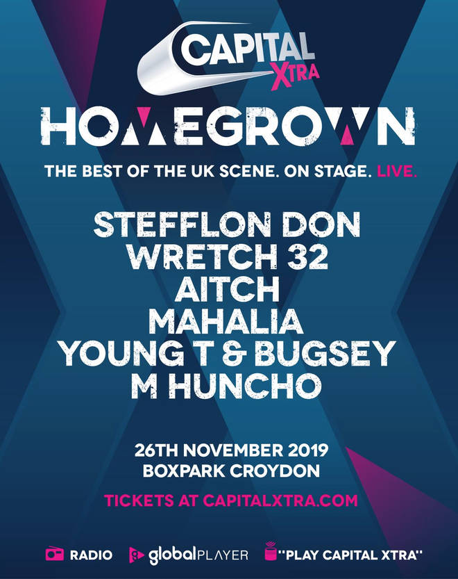 Capital XTRA Homegrown Live November 2019 Line-Up
