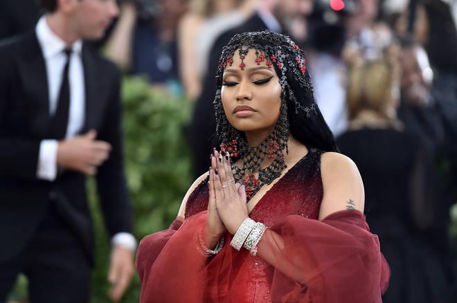 Nicki Minaj attends the Met Gala on May 7, 2018.