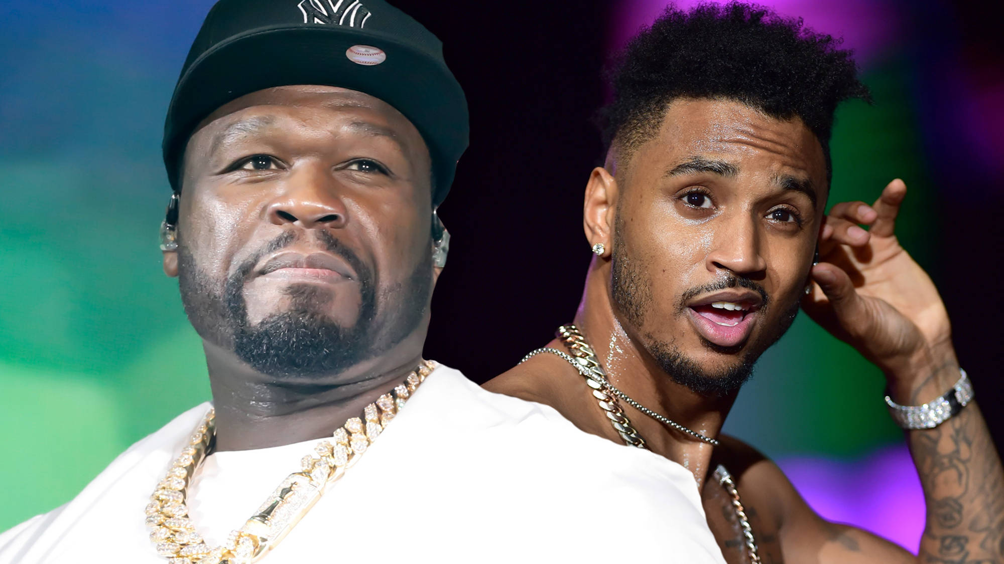 50 Cent trolls Trey Songz over his Power shooting theory with old mugshot