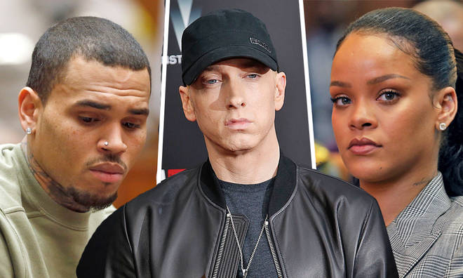Eminem issues statement over leaked song revealing his support of Chris Brown over Rihanna assault