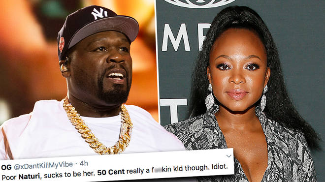50 Cent faces backlash after trolling Naturi Naughton's hailine on Twitter