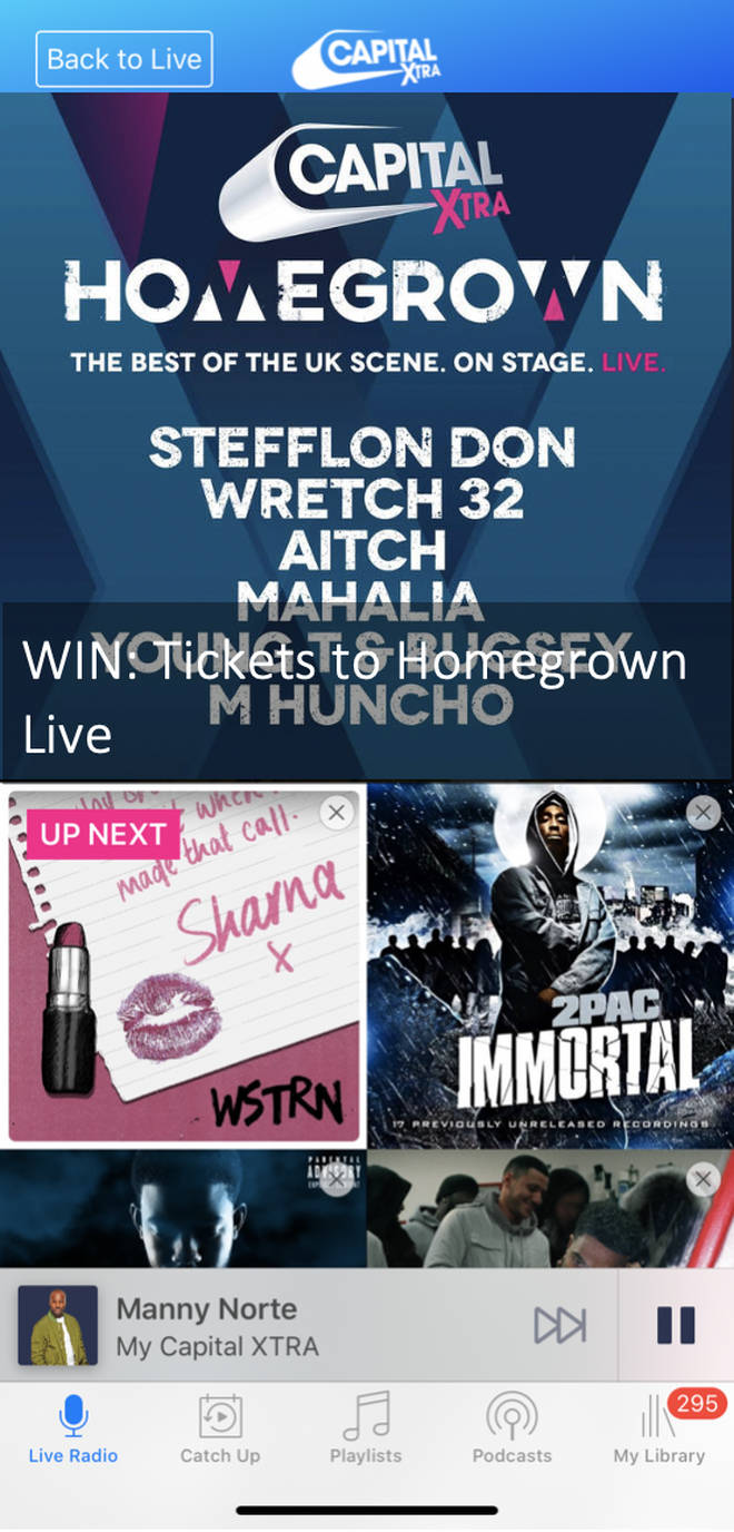 Win your way into Capital XTRA Homegrown Live!