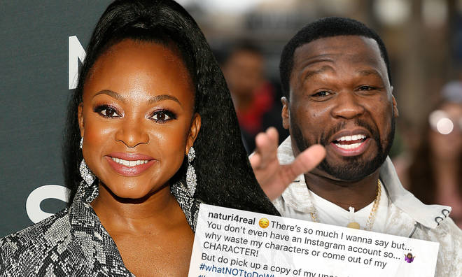 Naturi Naughton clapped back at 50 Cent after he trolled her hairline on social media.