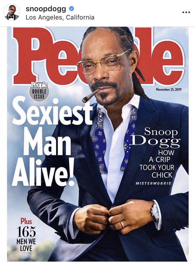 "Snoop Dogg replaced ""sexiest man alive"" John Legend on a fake People magazine cover he posted on Instagram."