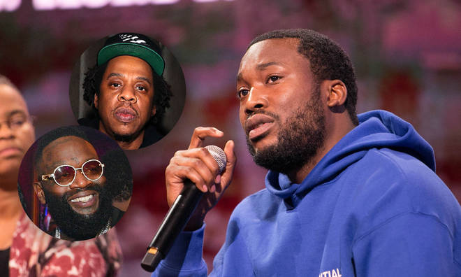 Meek Mill placed Jay-Z and Lil Wayne at the start of his list.