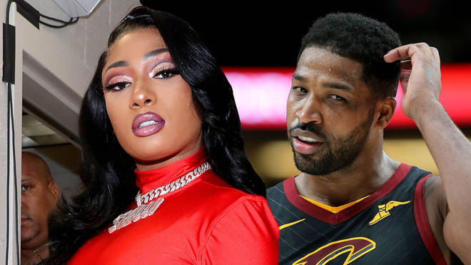 Megan Thee Stallion claims she doesn't even know Tristan Thompson amid claims the pair are romantically involved.
