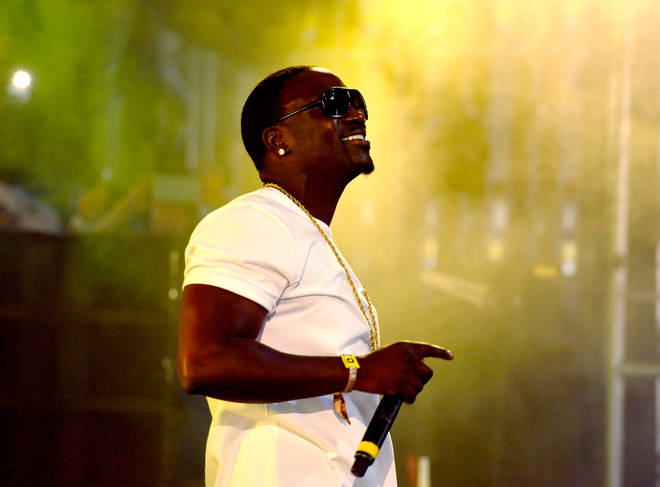 Recording artist Akon performs onstage with DJ Matoma during day 2 of the 2016 Coachella Valley Music & Arts Festival Weekend 2 at the Empire Polo Club on April 23, 2016 in Indio, California. (Photo by Michael Tullberg/Getty Images for Coachella)