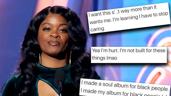 "Ari Lennox says she wants to quit after ""being snubbed"" of an award"
