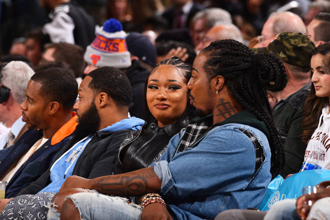 The rapstress was also linked to Tristan Thompson this week after he allegedly invited her to a Cleveland Cavaliers v New York Knicks game. She denied the rumours, saying she was simply attending with a friend.