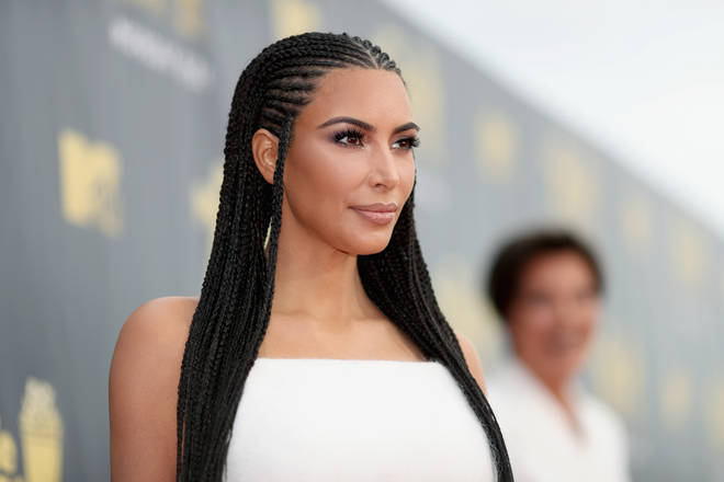 TV personality Kim Kardashian attends the 2018 MTV Movie And TV Awards at Barker Hangar on June 16, 2018 in Santa Monica, California. (Photo by Christopher Polk/Getty Images for MTV)
