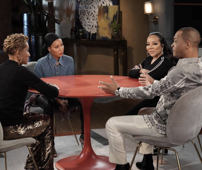 T.I. and his wife Tiny appear on Red Table Talk with Jada Pinkett Smith and her mother Adrienne Banfield Norris to discuss his recent controversy.