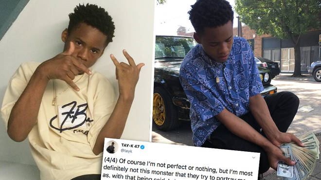 "Tay-K calls out management and media for ""portraying him as a monster"""