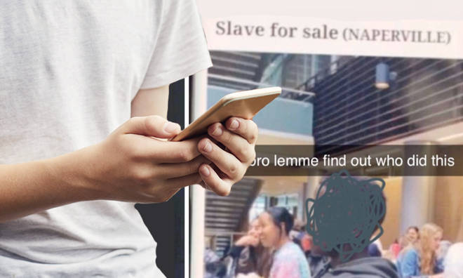 Teen lists black classmate as 'slave for sale' online
